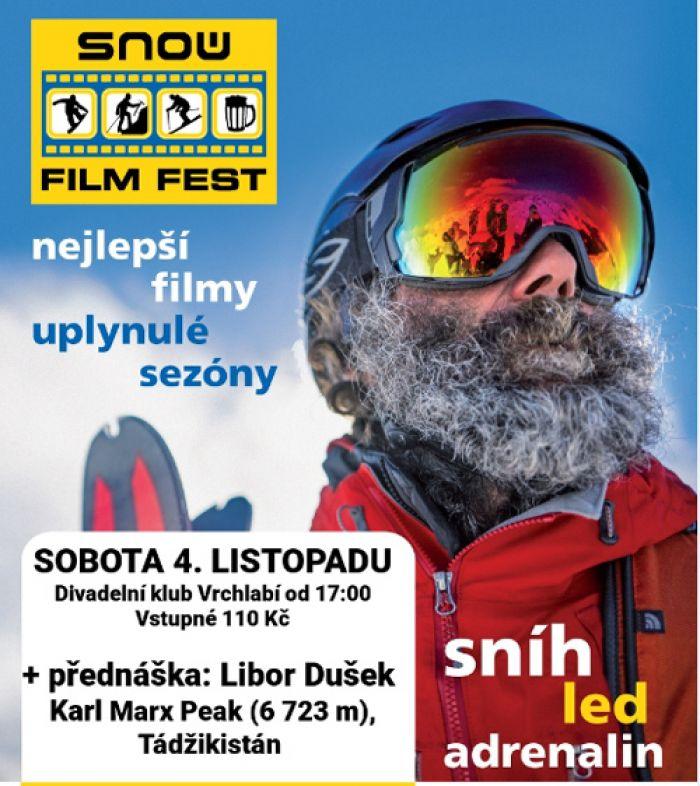 04.11.2017 - Snow film fest = nejlepší filmy + přednáška Pamír / Vrchlabí