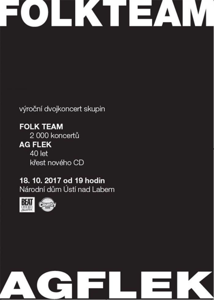 18.10.2017 - Folk Team a AG Flek - Koncert / Ústí nad Labem