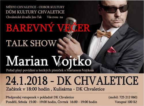 24.01.2018 - Marian Vojtko - Barevný večer / Chvaletice