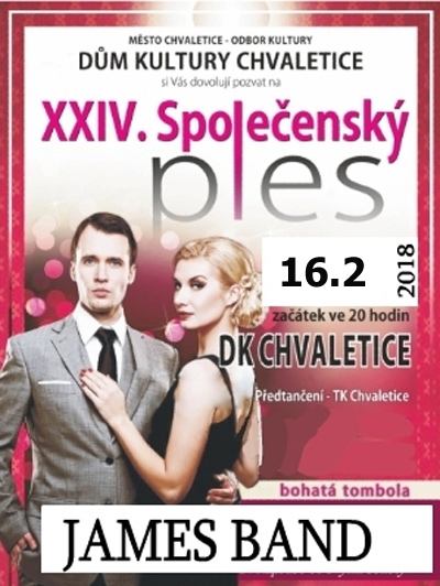 16.02.2018 - XXVI. Společenský ples  / Chvaletice