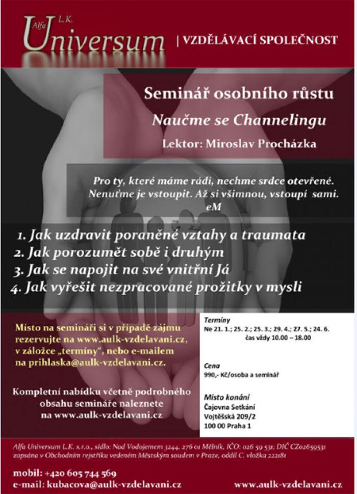 21.01.2018 - Naučme se Channelingu (Jak řešit vztahy) - Praha 1