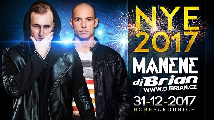 31.12.2017 - Silvestr 2017 - Manene, Brian and more / Pardubice