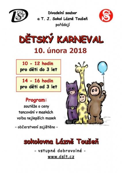 Dětský karneval - Lázně Toušeň