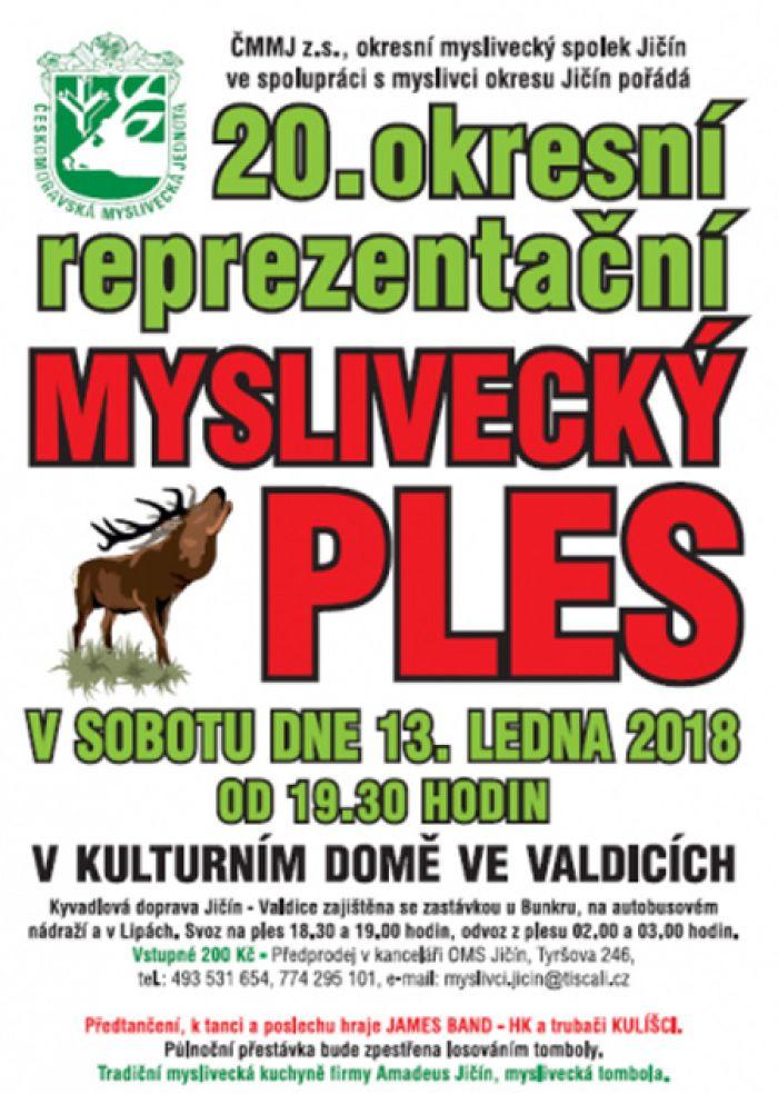 13.01.2018 - Myslivecký ples 2018 - Valdice