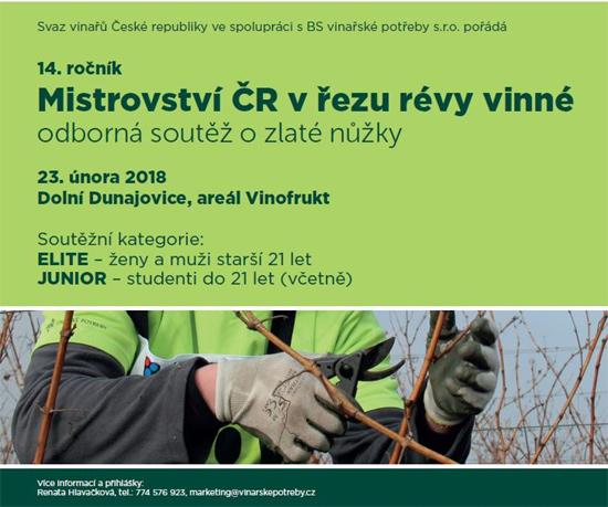 23.02.2018 - 14. ROČNÍK MISTROVSTVÍ ČR V ŘEZU RÉVY VINNÉ - Dolní Dunajovice