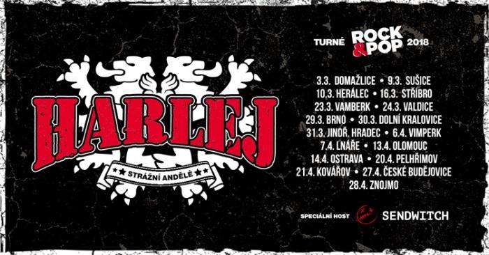 24.03.2018 - Harlej - Rock & Pop Turné 2018 / Valdice u Jičína