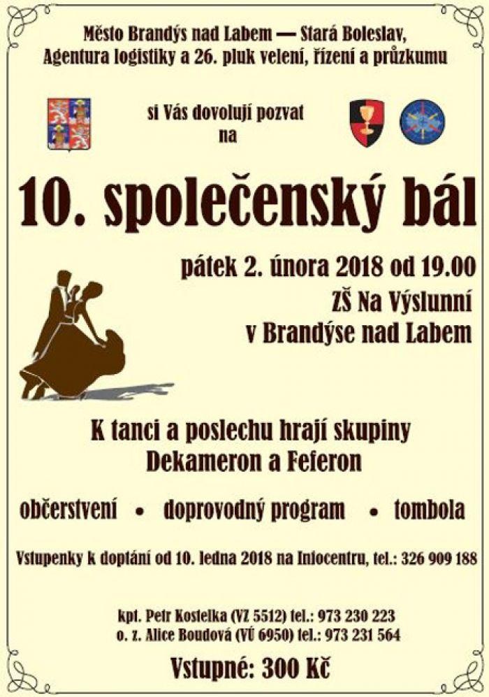 10.společenský bál - Brandýs nad Labem