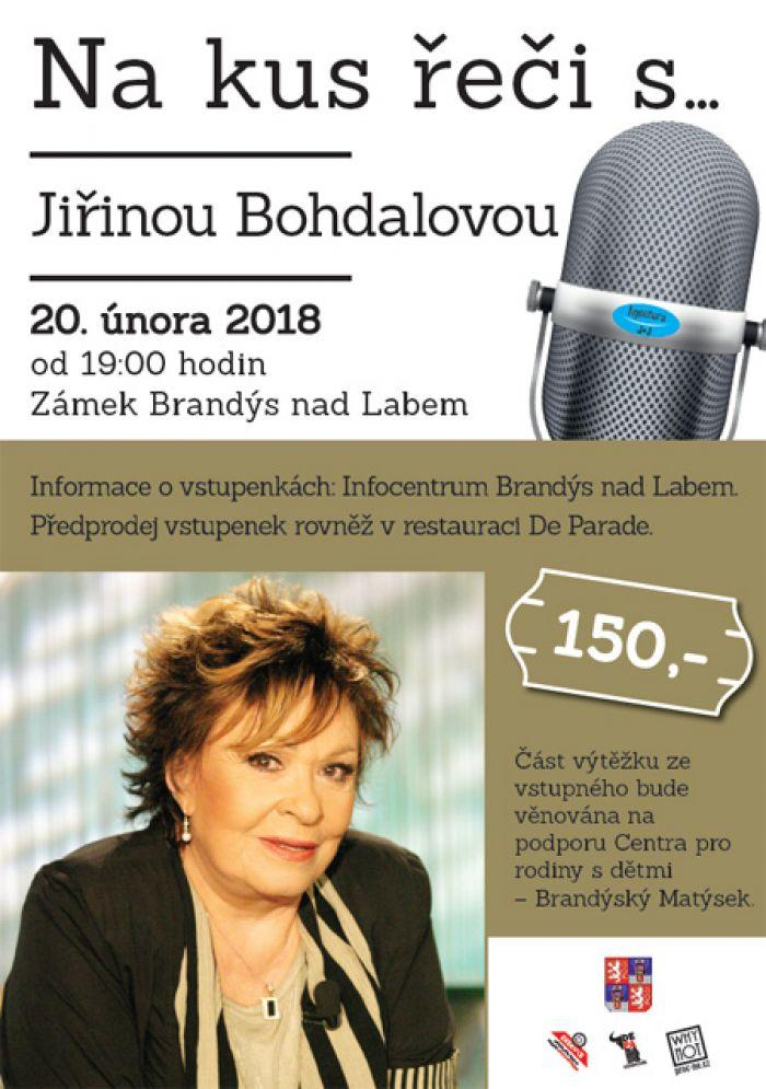 Na kus řeči s ... Jiřinou Bohdalovou - Brandýs nad Labem
