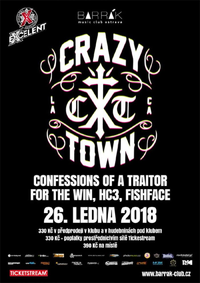 Crazy Town, For the Win, Confessions of a Traitor - Ostrava