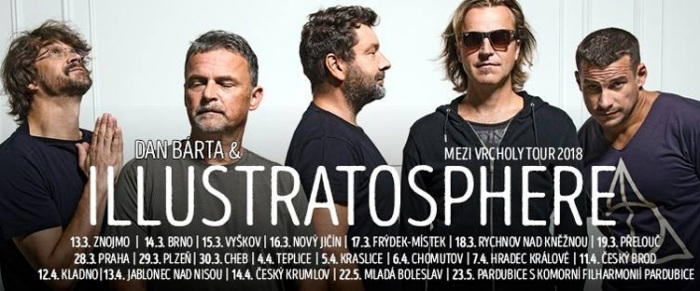 19.03.2018 - Dan Bárta & Illustratosphere - Mezi vrcholy tour 2018 / Přelouč