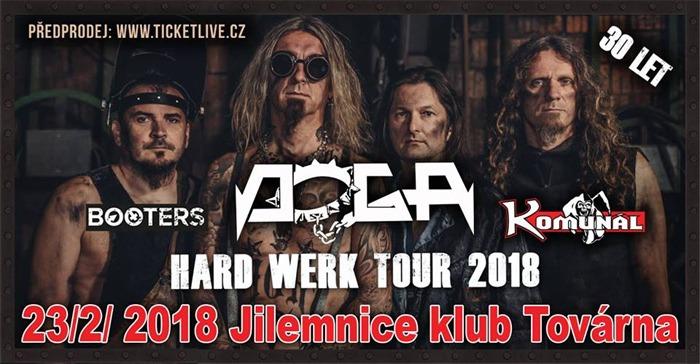 23.02.2018 - Doga - hard werk tour 2018 + Komunál, Booters / Jilemnice