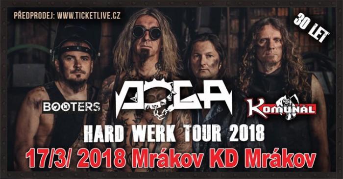 Doga - hard werk tour 2018 + Komunál, Booters / Mrákov