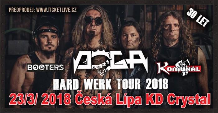 23.03.2018 - Doga - hard werk tour 2018 + Komunál, Booters / Česká Lípa