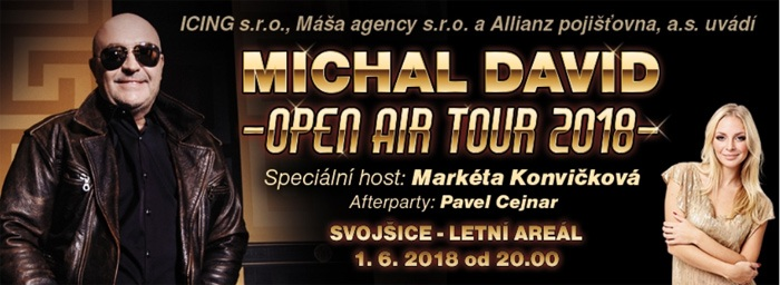 01.06.2018 - Michal David: OPEN AIR TOUR 2018 - Svojšice