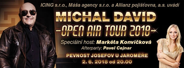 02.06.2018 - Michal David: OPEN AIR TOUR 2018 - Josefov