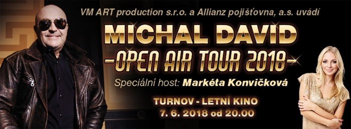 07.06.2018 - Michal David: OPEN AIR TOUR 2018 - Turnov
