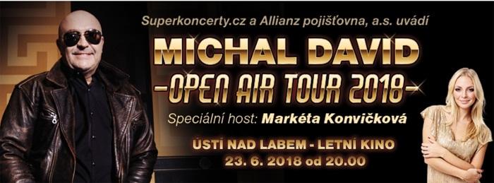 Michal David: OPEN AIR TOUR 2018 - Ústí nad Labem