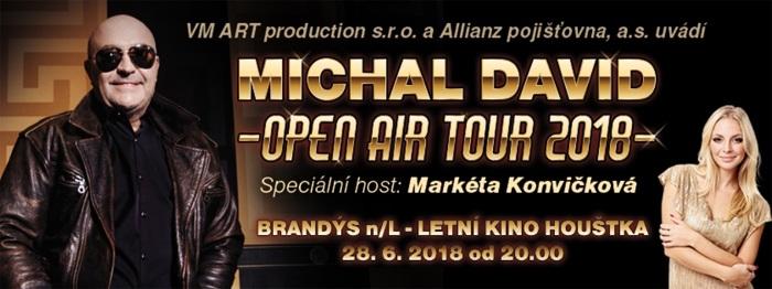 Michal David: OPEN AIR TOUR 2018 - Stará Boleslav