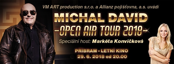 Michal David: OPEN AIR TOUR 2018 - Příbram
