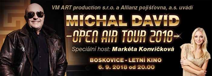 Michal David: OPEN AIR TOUR 2018 - Boskovice
