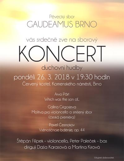 Pěvecký sbor Gaudeamus - Koncert duchovní hudby / Brno