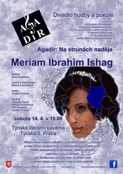 14.04.2018 - Agadir: Na strunách naděje, Meriam Ibrahim Ishag - Praha