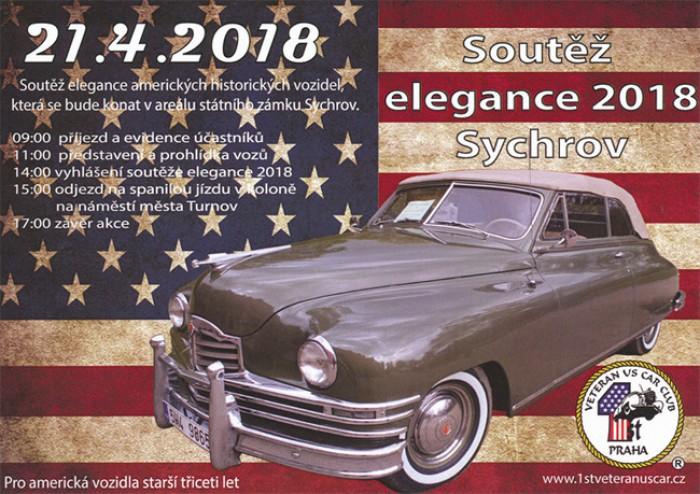 21.04.2018 - Soutěž elegance amerických veteránů 2018 - Sychrov