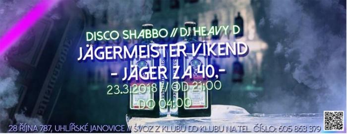 Páteční Jägermeister párty - Uhlířské Janovice