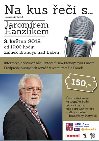03.05.2018 - Na kus řeči s....Jaromírem Hanzlíkem - Brandýs nad Labem