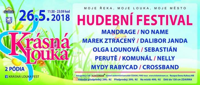 Krásná louka fest 2018 - Mladá Boleslav