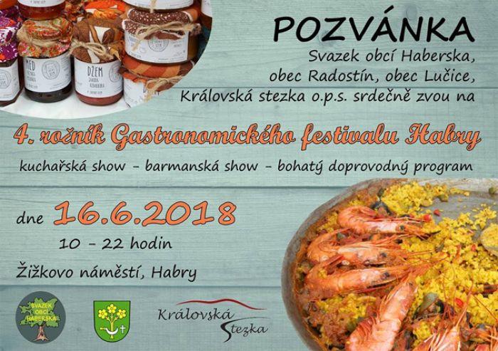 4. ročník Gastronomického festivalu Habry