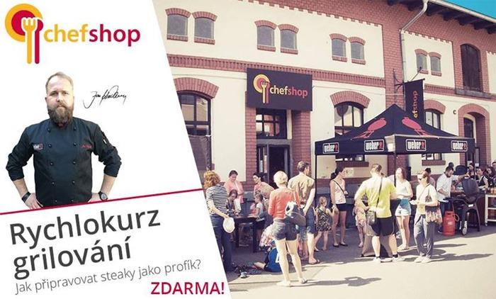 Rychlokurz grilování zdarma v Chefshopu - Praha 7