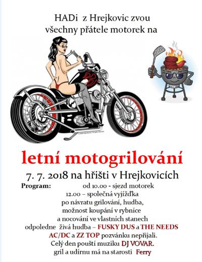 Letní motogrilování - Hrejkovice