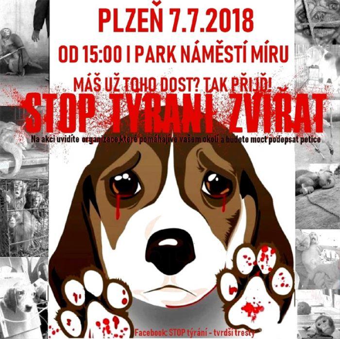 Demonstrace: STOP týrání - Tvrdší tresty / Plzeň