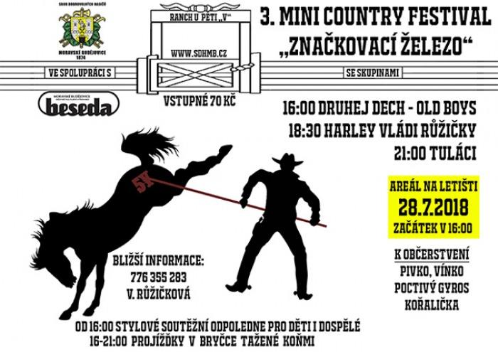 3. Mini country festival Značkovací železo - Moravské Budějovice