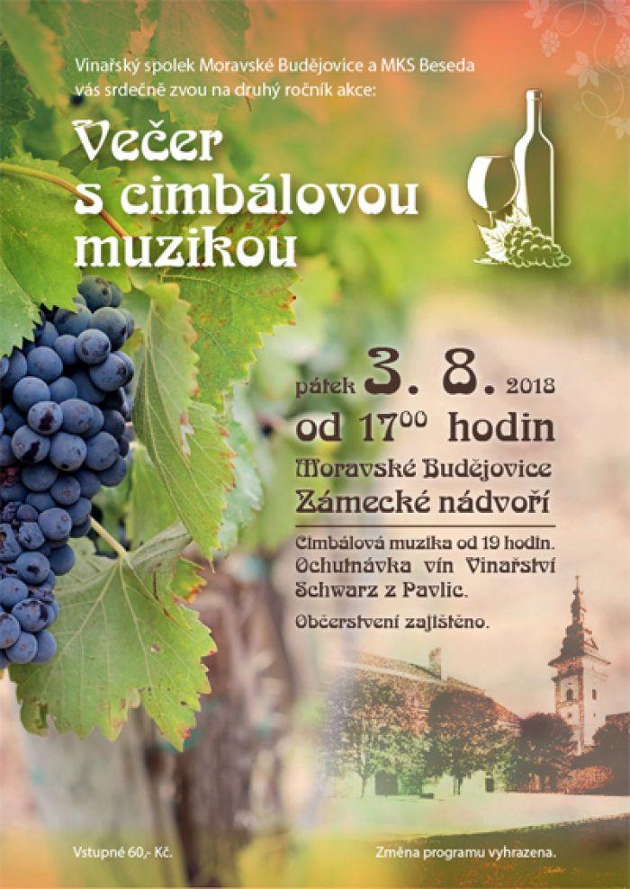 Večer s cimbálovou muzikou - Moravské Budějovice