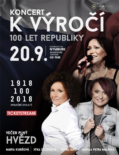 Koncert k výročí 100 let republiky - Nymburk