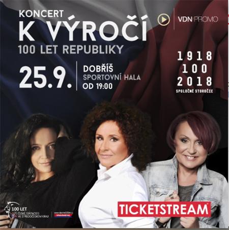 Koncert k výročí 100 let republiky - Dobříš