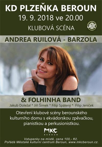 Otevření Klubové scény s Andreou Ruilovou-Barzola - Beroun