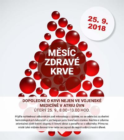 Měsíc zdravé krve - O krvi nejen ve vojenské medicíně - Praha 6