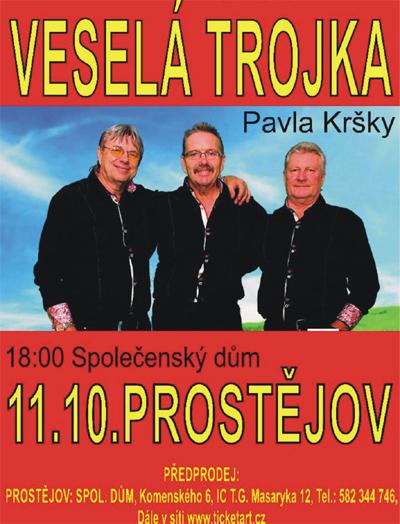 VESELÁ TROJKA - Koncert /  Prostějov