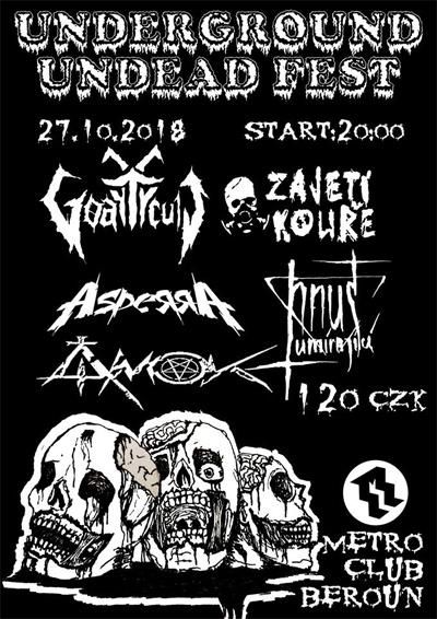 27.10.2018 - Underground Undead Fest / Beroun