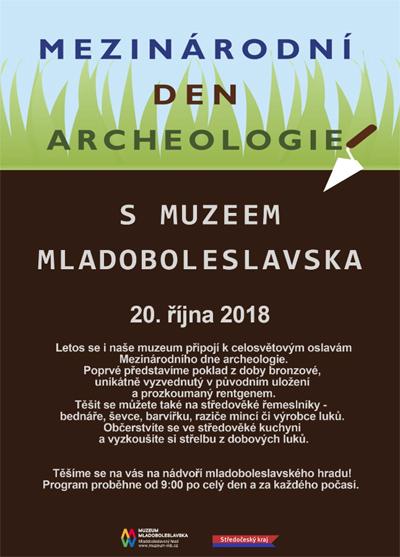 20.10.2018 - Mezinárodní den archeologie - Mladá Boleslav