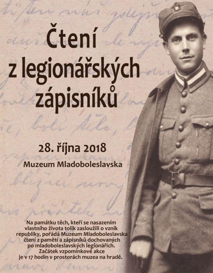 28.10.2018 - Čtení z legionářských deníků - Mladá Boleslav