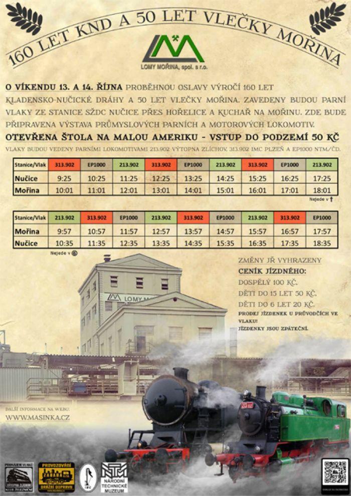 13.10.2018 - 160 let Kladensko-nučické dráhy / Mořina