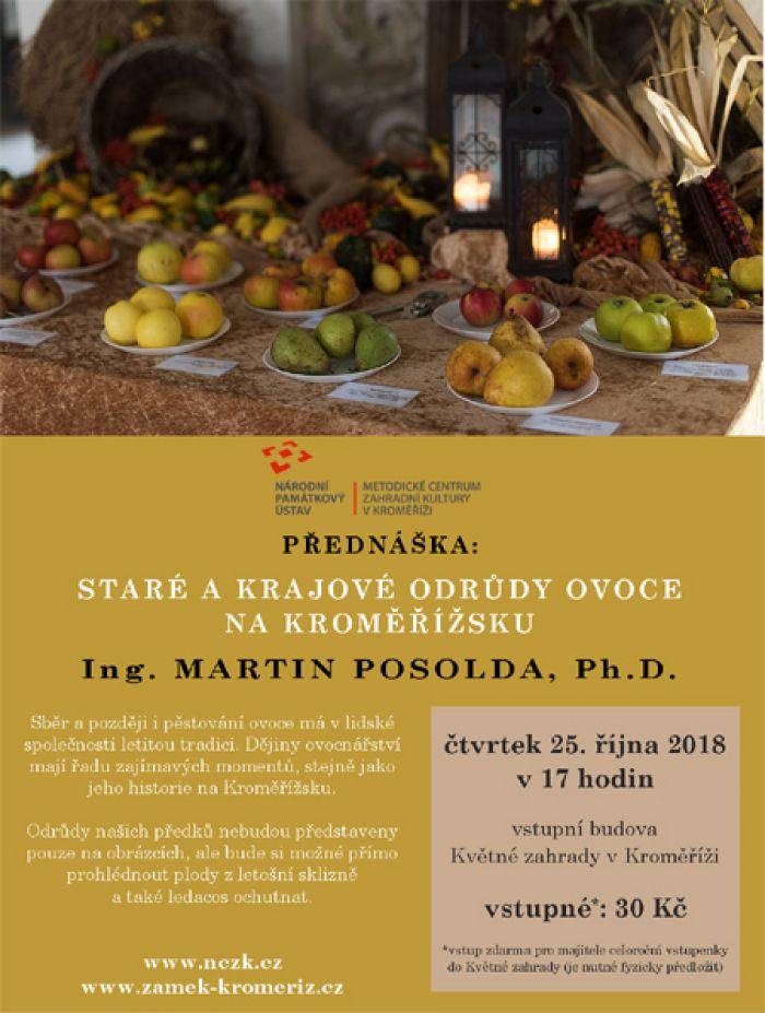 25.10.2018 - Staré a krajové odrůdy - Přednáška / Kroměříž