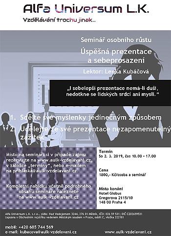 Úspěšná prezentace a sebeprosazení - Seminář / Praha