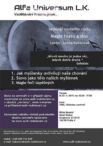Magie hlasu a slov - Seminář / Praha