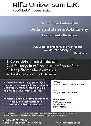 14.06.2019 - Jediná jistota je jistota změny - Seminář / Mělník