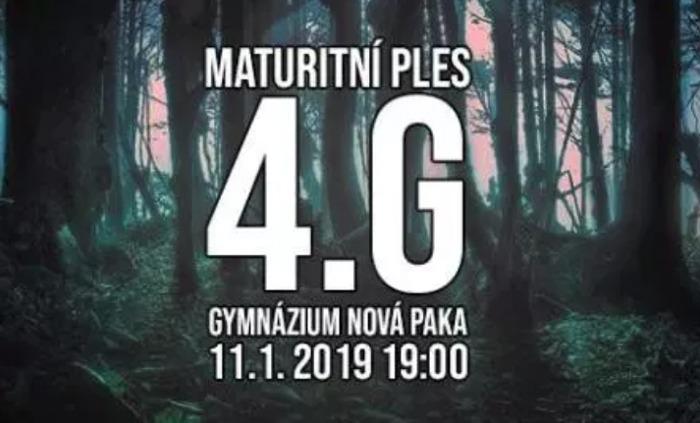 11.01.2019 - Maturitní ples 4.G - Gymnázium Nová Paka / Jičín